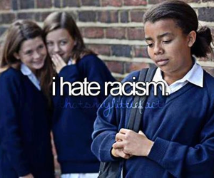 racism, hate, and quote image