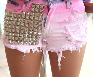 accessories, denim shorts, and fashion image
