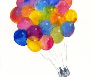 art, balloons, and drawing image