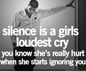 girl, silence, and ignore image