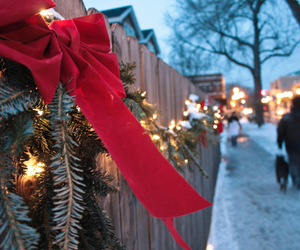 christmas, snow, and garland image