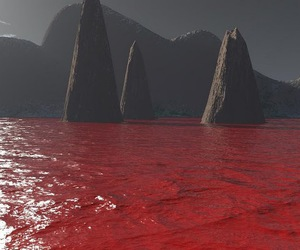 blood, red, and water image