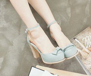 shoes, blue, and pastel image