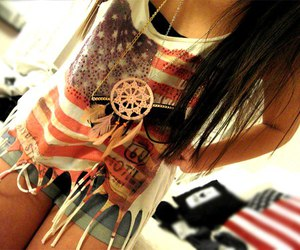 girl and usa image