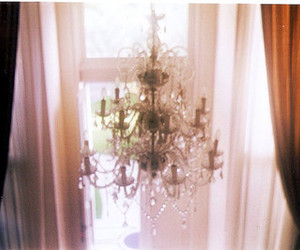 chandelier and vintage image