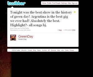 green day, green day argentina, and twitter image