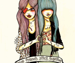 friends, valfre, and drawing image