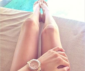 legs, summer, and watch image