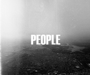people and black and white image