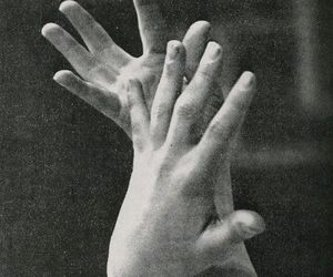 black and white, hands, and photography image