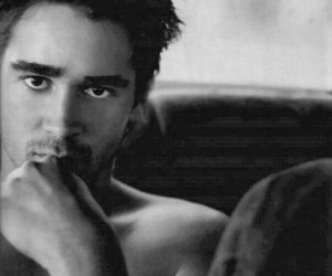 colin farrell, black and white, and man image