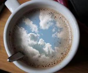 sky, coffee, and clouds image