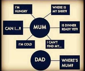 mum, dad, and funny image