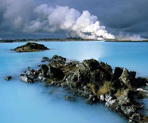 ahhh, iceland, and blue water image