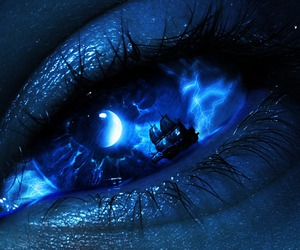blue, eyes, and art image