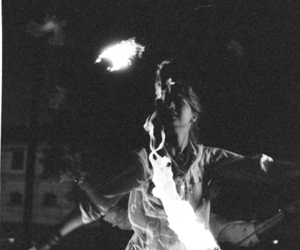 black and white, fire, and photography image