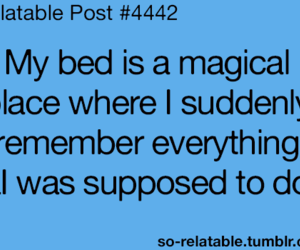 bed, magical, and place image