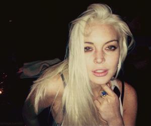 lindsay lohan, drugs, and blonde image