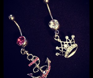 anchor, anchors, and belly button piercing image