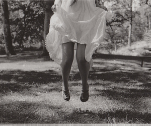 dress, girl, and jump image