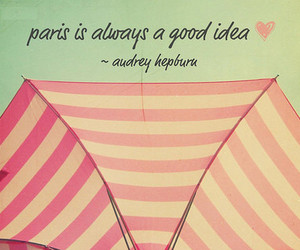 paris, pink, and quote image