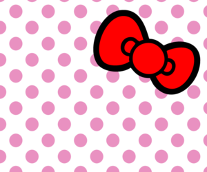 wallpaper, hello kitty, and bow image