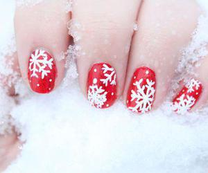 nails, snow, and red image