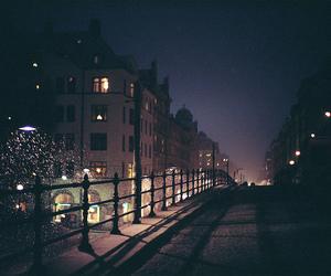 night, city, and street image