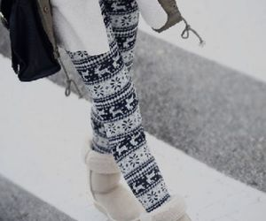 fashion, winter, and leggings image