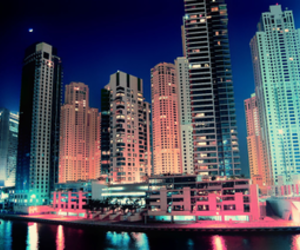 city, colourful, and skyline image