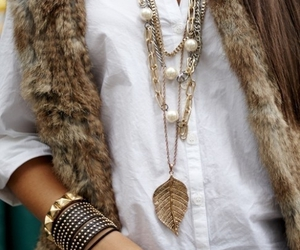 bracelets, necklace, and brown image