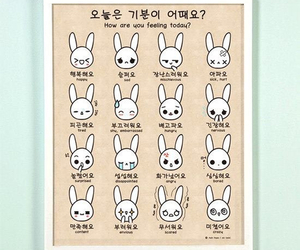 korean, emotions, and bunny image