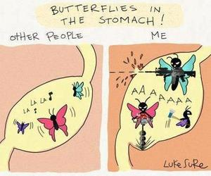 butterfly, love, and funny image
