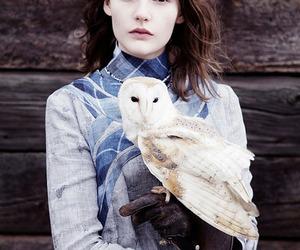 fashion, girl, and owl image