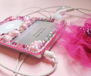 pink, ipod, and girly image