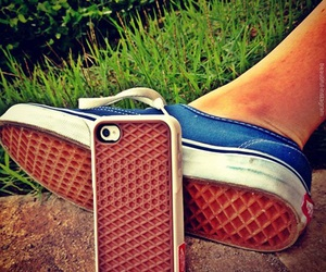 vans, iphone, and shoes image
