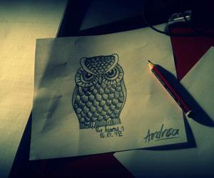 art, beutiful, and owl image