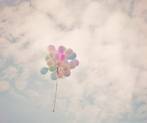 balloons, sky, and cute image