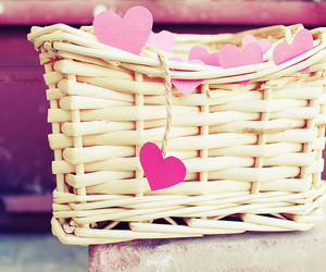 pink, heart, and hearts image