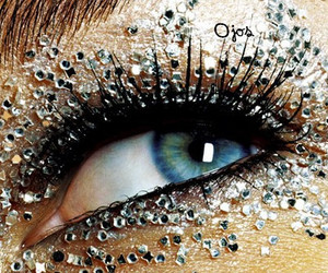 eyes, blue, and glitter image