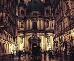 city, vienna, and architecture image