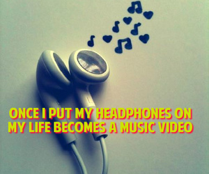 headphones, life, and cute image