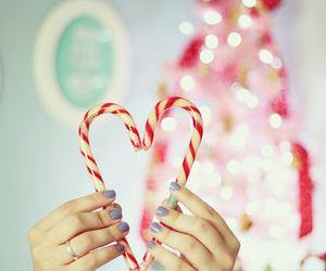 christmas, heart, and cute image