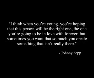 quote, love, and johnny depp image