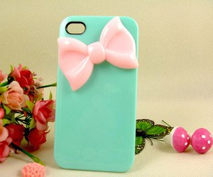 pink, bow, and case image