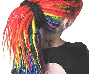 dread, hair, and tattoo image