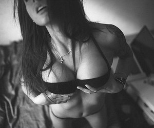 girl, sexy, and black and white image