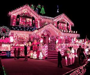 christmas, light, and house image