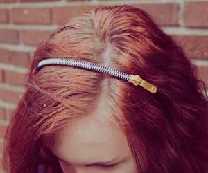 hair and zipper image