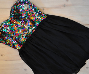 dress, black, and glitter image